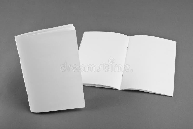 Catálogo vazio, folheto, compartimentos, zombaria do livro acima imagens de stock royalty free