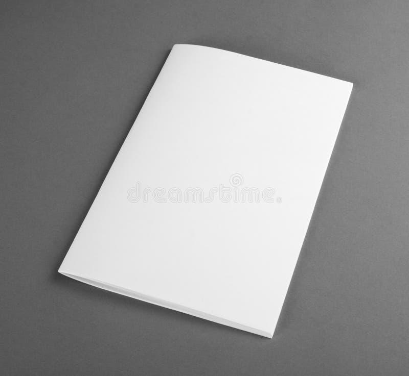 Catálogo vazio, folheto, compartimentos, zombaria do livro acima imagem de stock