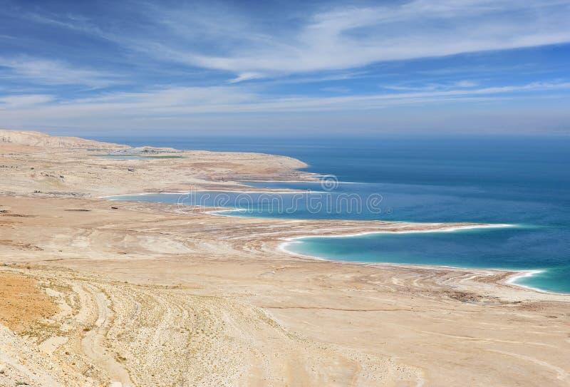 Catástrofe ambiental en el mar muerto, Israel fotos de archivo