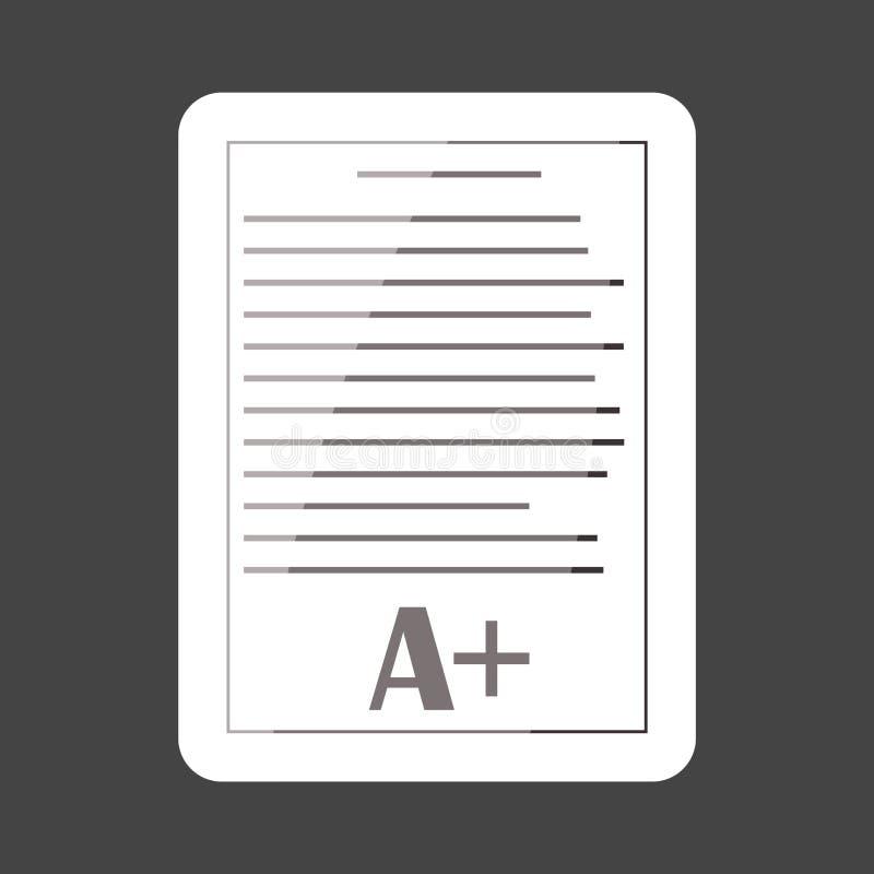 Catégories de forme d'école d'autocollant colorées par icône de vecteur Excellent essai illustration stock