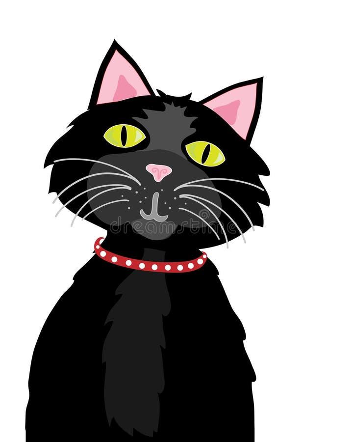 Download Cat stock vector. Image of collar, green, feline, yellow - 14659466