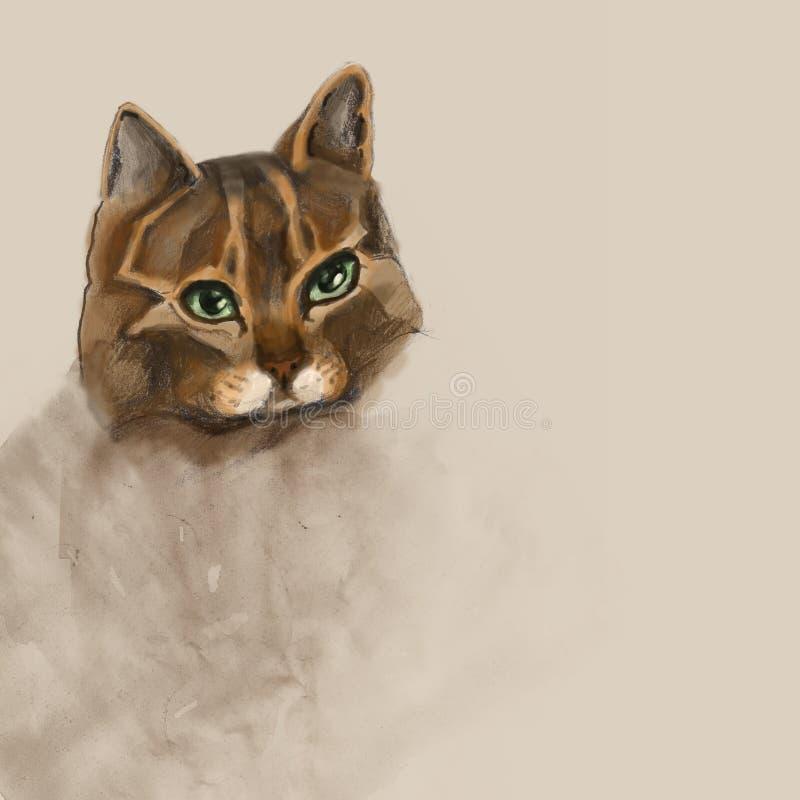 Download Cat stock illustration. Image of animal, looking, artwork - 23576363