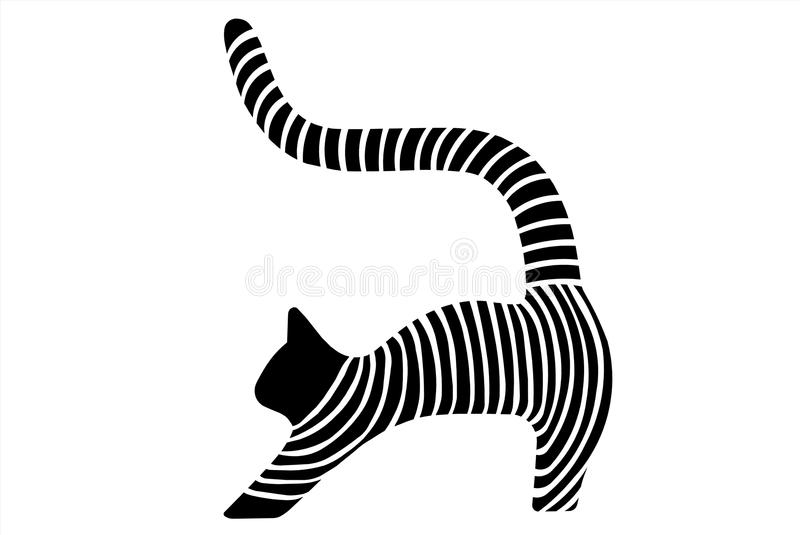 Download Cat stock illustration. Illustration of isolated, clip - 23593879