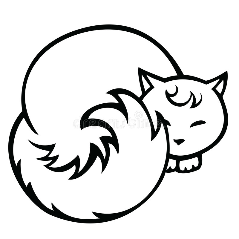 Download Cat stock vector. Illustration of cute, mammal, graphic - 2440759