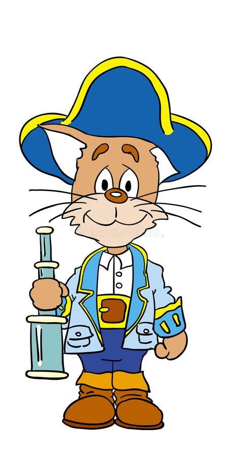Download Cat stock illustration. Image of sailor, smile, captain - 268079