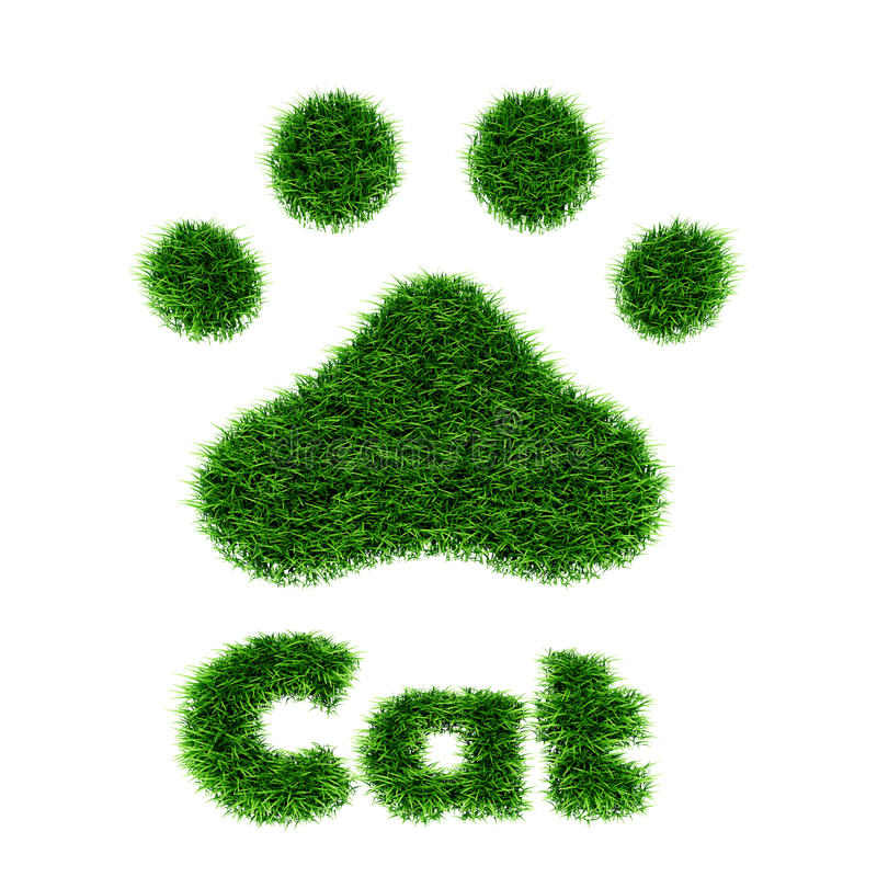 Download Cat stock illustration. Image of abstract, trail, animal - 27104801