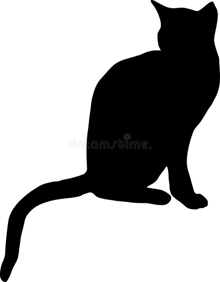 Cat. Illustration of a black cat