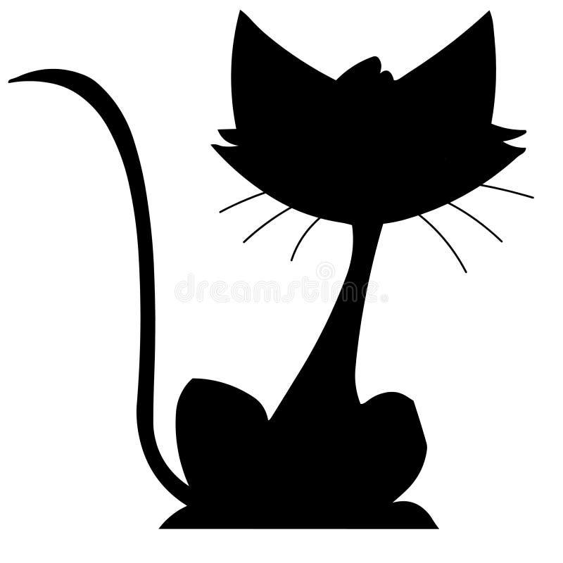 Download Cat stock illustration. Image of mice, coat, kitty, black - 6379579