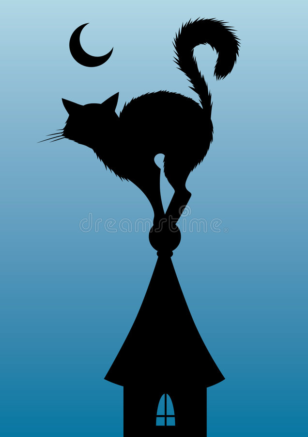 Download Cat stock illustration. Image of night, mystics, shapes - 6638656
