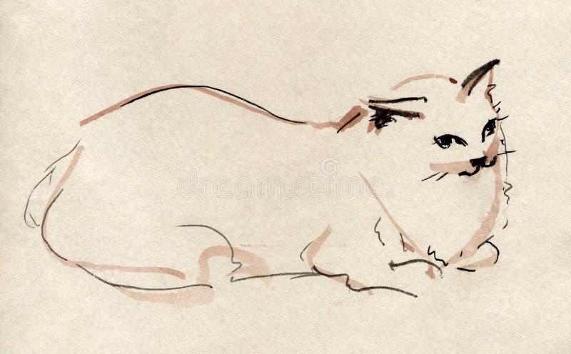 Download Cat stock illustration. Image of sleeper, dormant, kitten - 7267873