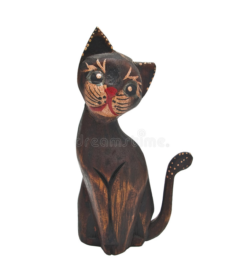 Download Cat stock image. Image of souvenir, figurine, white, decoration - 7664415
