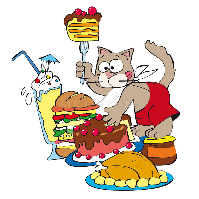 Download Cat stock illustration. Image of drawing, cooking, domestic - 7833062