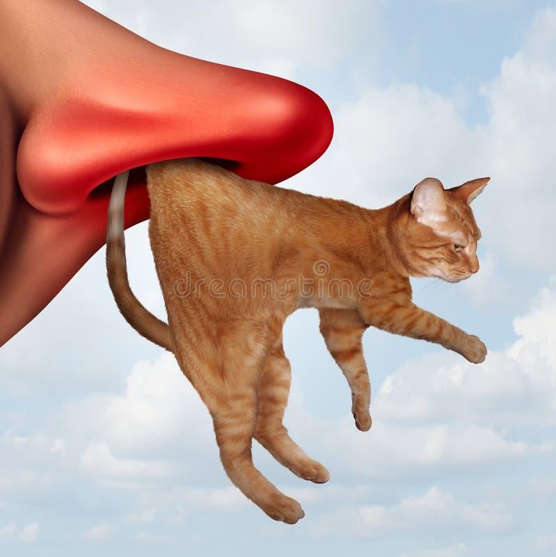 Cat Allergy ilustração do vetor