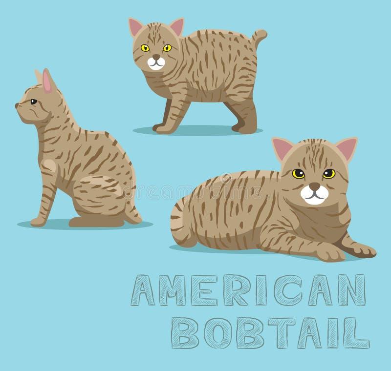 Amerikanisches Bobtail Katzesitzen Und -aufwartung Stock ...