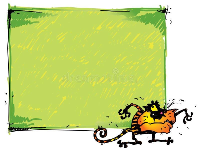 Cat&textframe stock abbildung