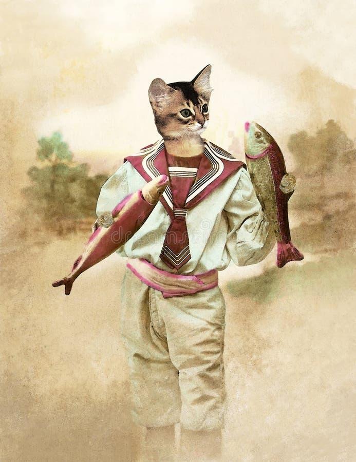 Cat April-dwaas stock foto