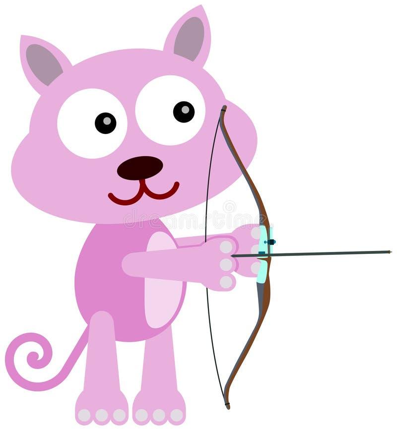 Download Cat archer stock illustration. Image of cute, cartoon - 32349302