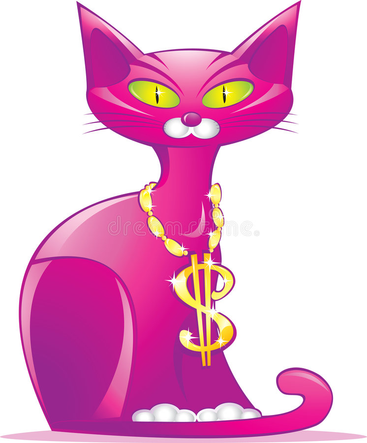 Download Cat as money symbol stock vector. Image of financial, illustration - 9189936