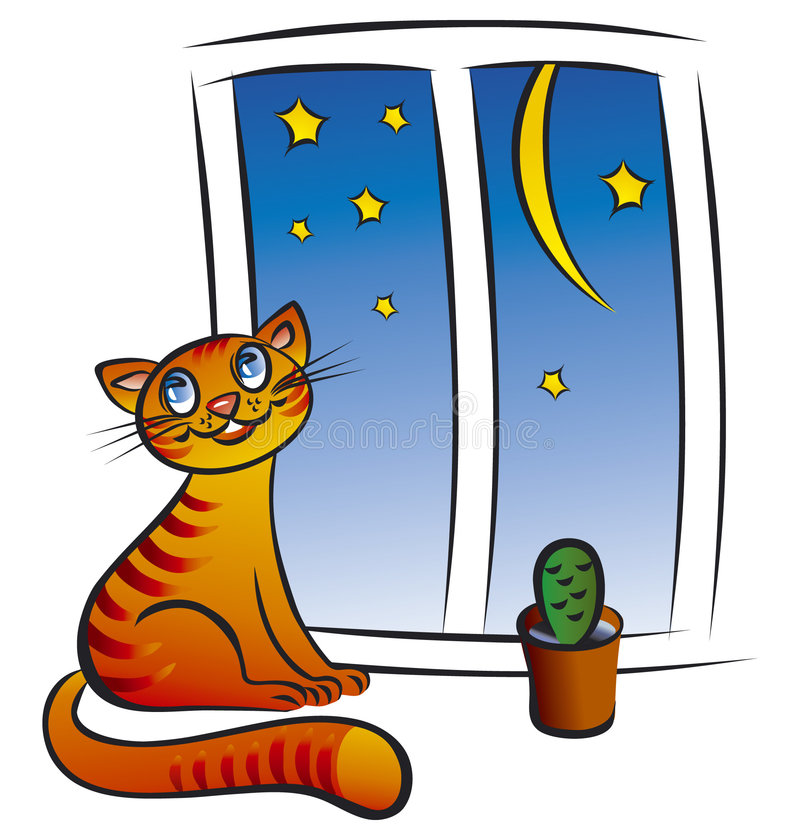 Free Cat At The Window Royalty Free Stock Image - 5119966