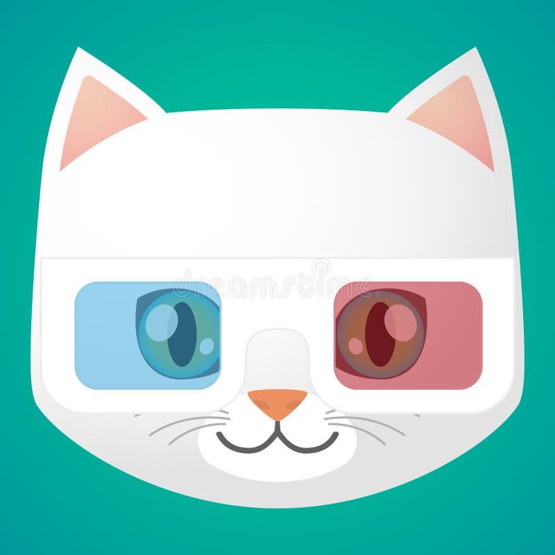 Cat avatar. Illustration of a cartoon cat avatar vector illustration