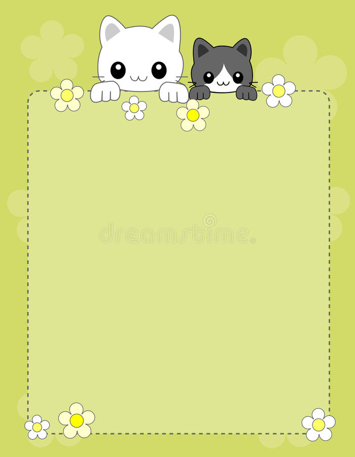 Cat background / border vector illustration