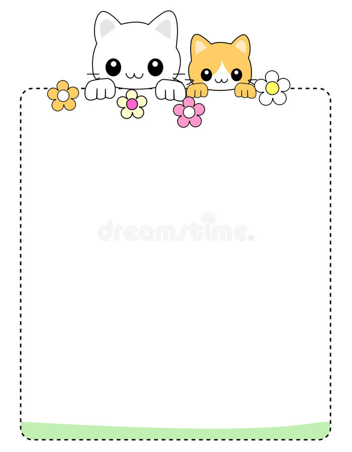 Download Cat background / border stock vector. Image of artistic - 19227754