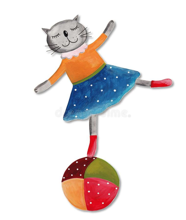 Download Cat On The Ball Royalty Free Stock Photography - Image: 29389237