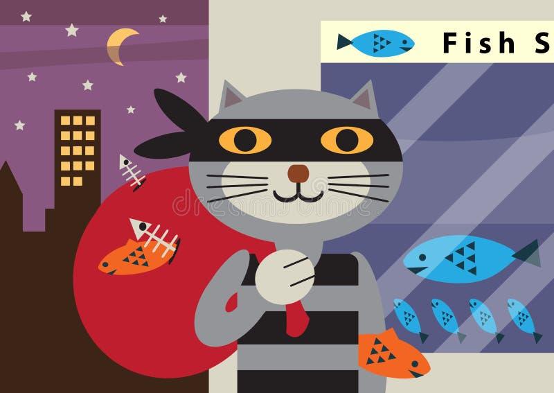 Cat Burglar illustration libre de droits