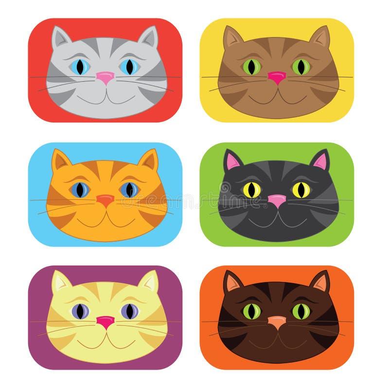 Cat Buttons colorée illustration libre de droits