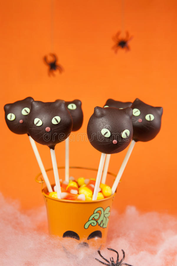 Cat cake pops stock photo