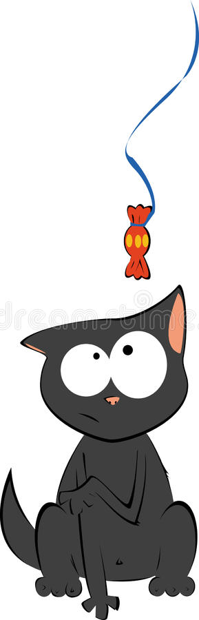 Download Cat and candy stock vector. Image of candy, illustration - 26666405
