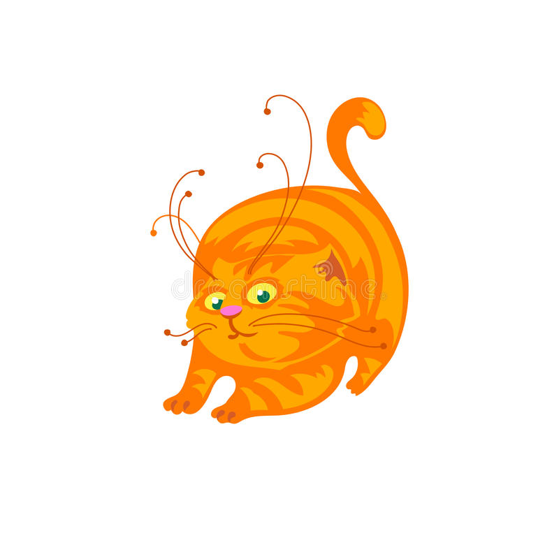 Cat Cartoon Illustration stock illustratie