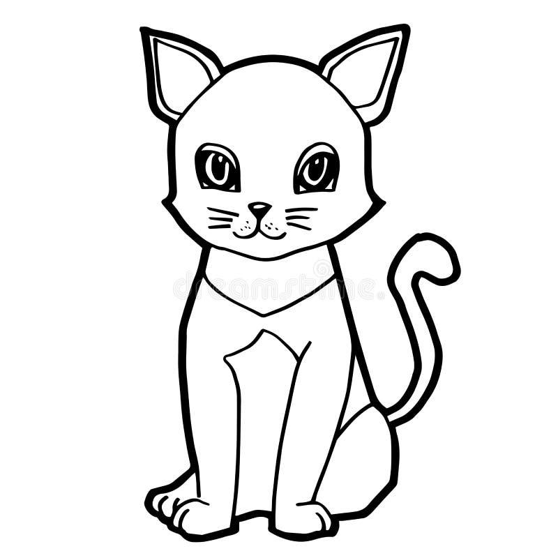 Line Art Cartoon Toys Vector : Cat cartoon line art vector stock illustration of
