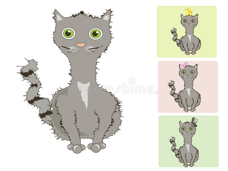 Download Cat-cat-cat stock vector. Image of green, pink, colour - 6961716