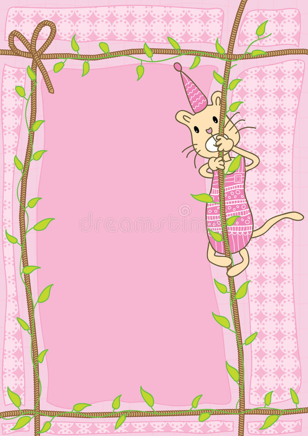 Download Cat Climb Rope_eps stock vector. Image of background - 21652851