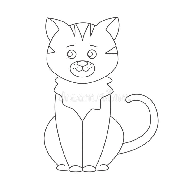 Cat for coloring book. stock vector. Illustration of character ...