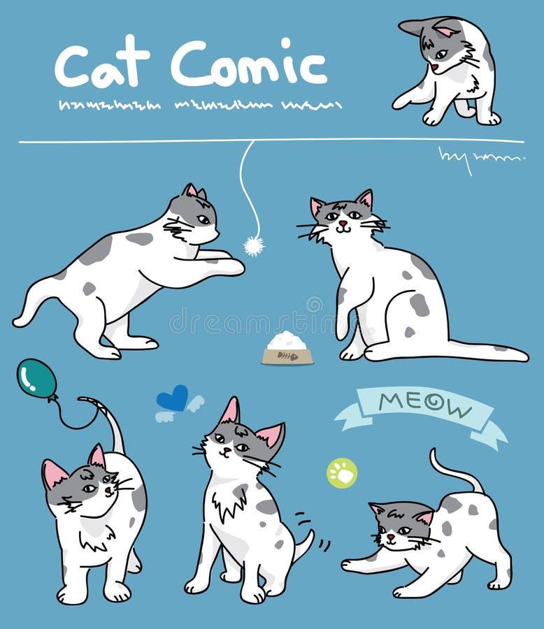 Cat comic royalty free illustration