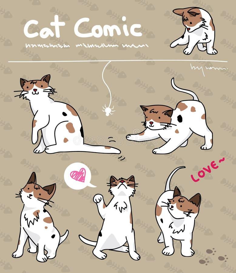 Cat comic vector illustration