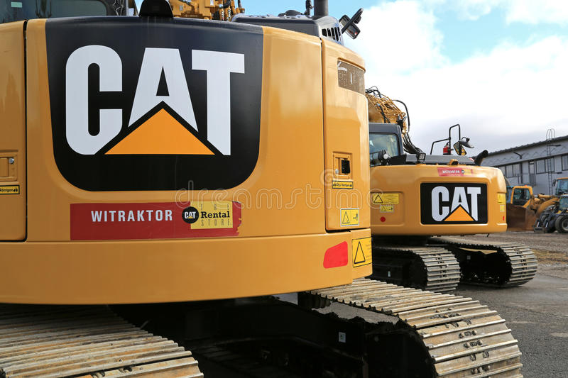 Cat Construction Equipment, Detail royalty free stock photography