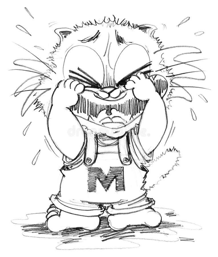 Download cat crying cartoon cute character design pencil sketch stock illustration illustration of kitten