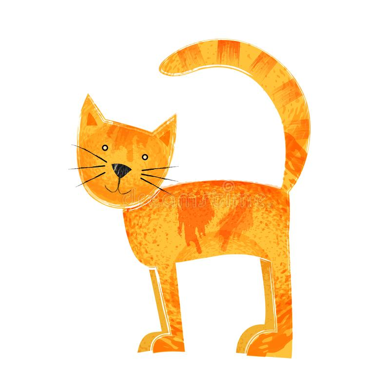 cat cute Πορτοκαλιά στάση ζωικός με τη σύσταση στοκ φωτογραφία με δικαίωμα ελεύθερης χρήσης