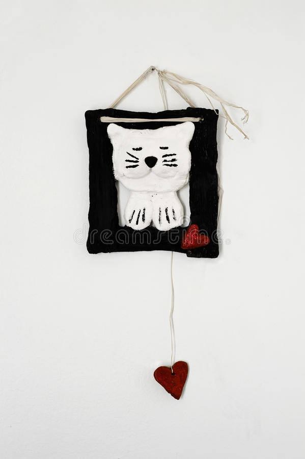 Free Cat Decoration Wall Hanging Royalty Free Stock Images - 12061279