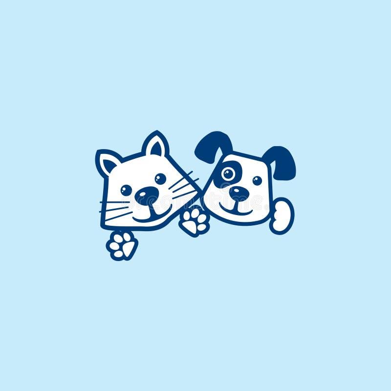 CAT DOG logo design vector. Isolated vector illustration