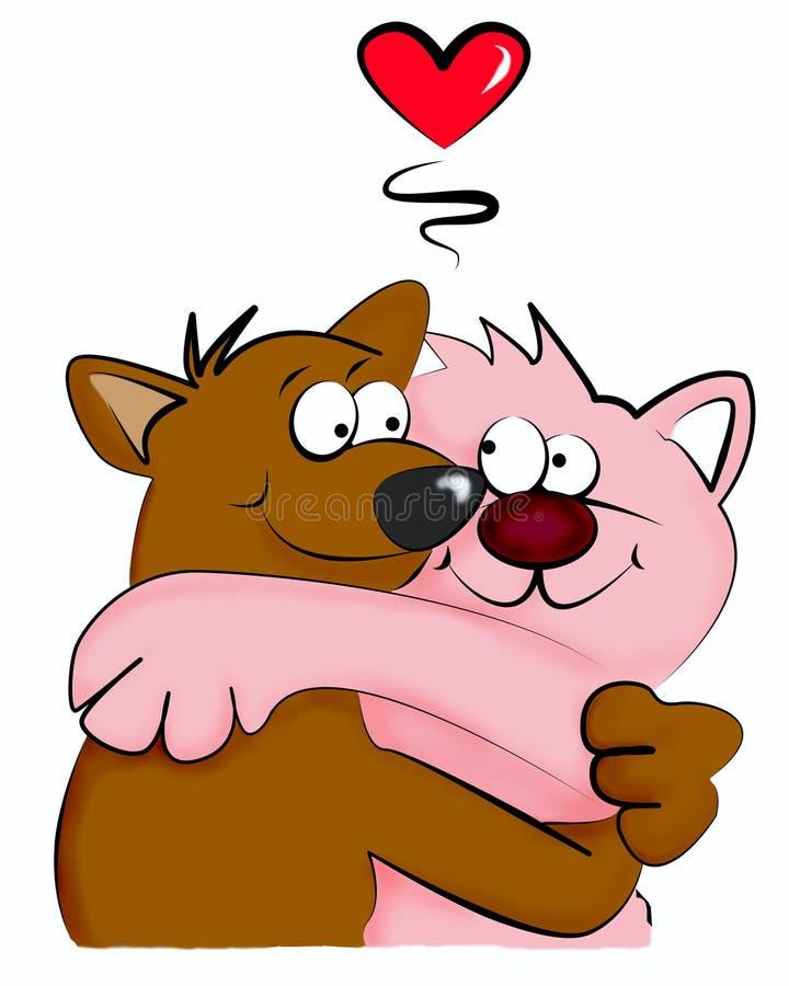 Download Cat and dog stock illustration. Image of clip, illustration - 4204080