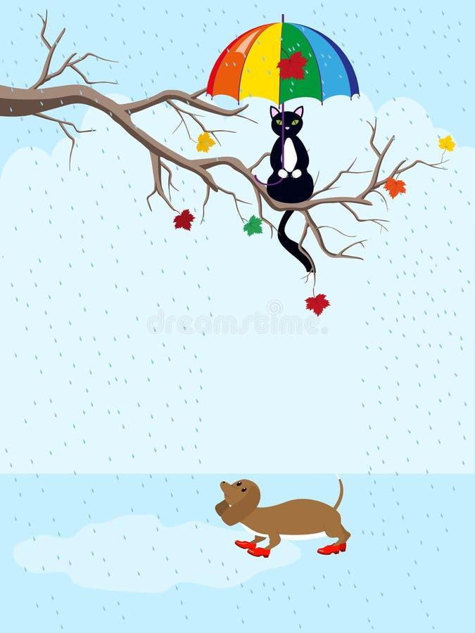 Cat and dog royalty free illustration