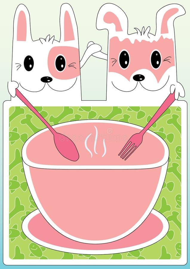 Cat Dog Friendship Cooking Menu_eps Stock Photo