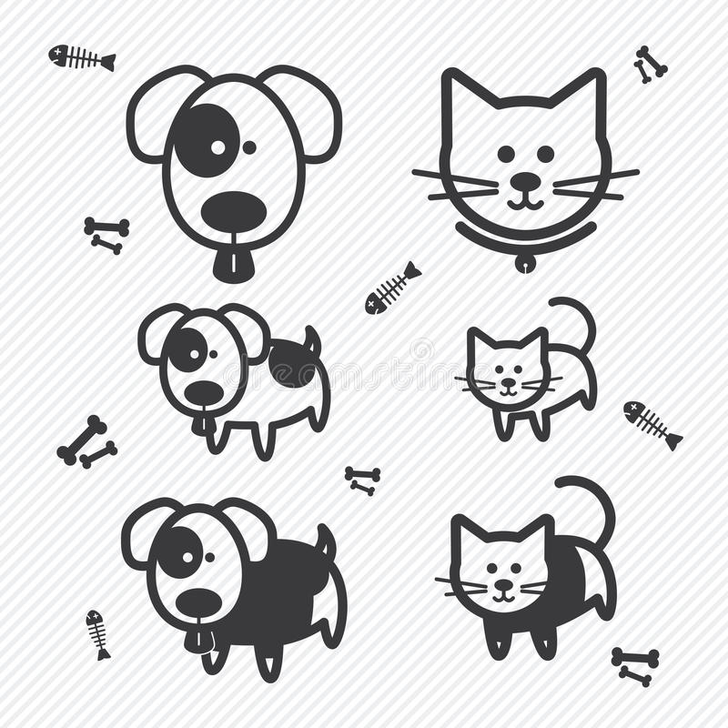 Cat and Dog icons. illustration vector illustration