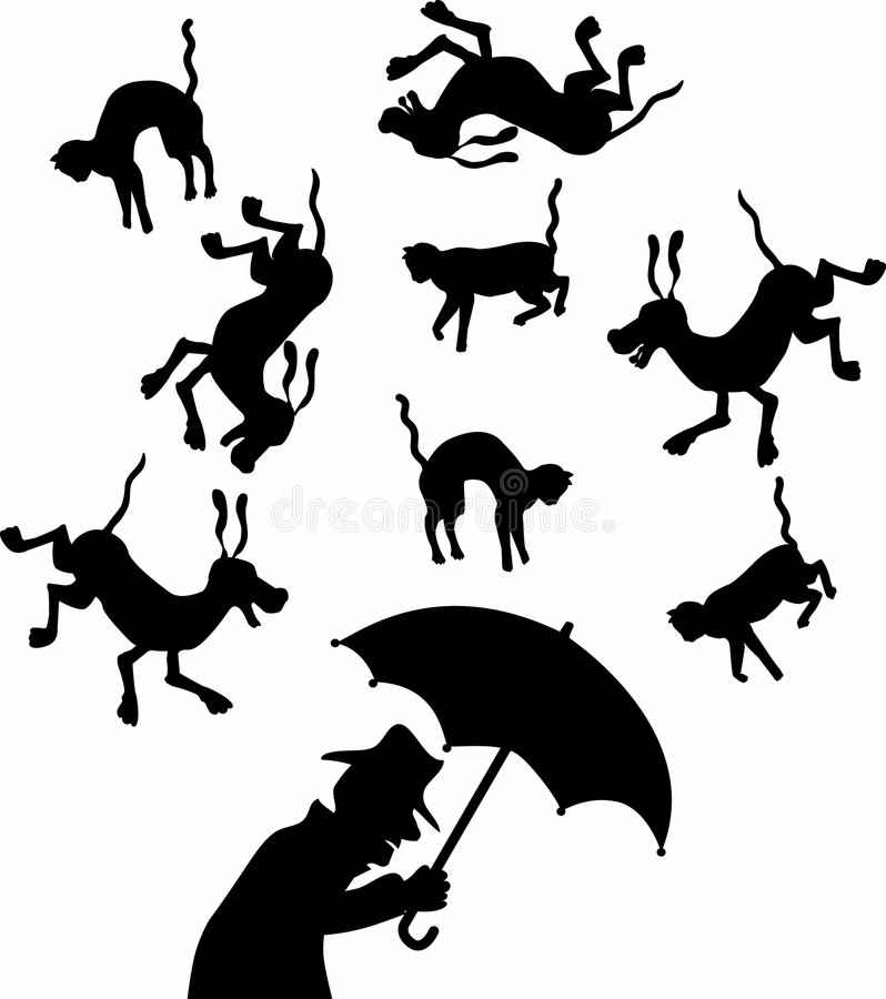 Cat_and_dogs royalty free illustration