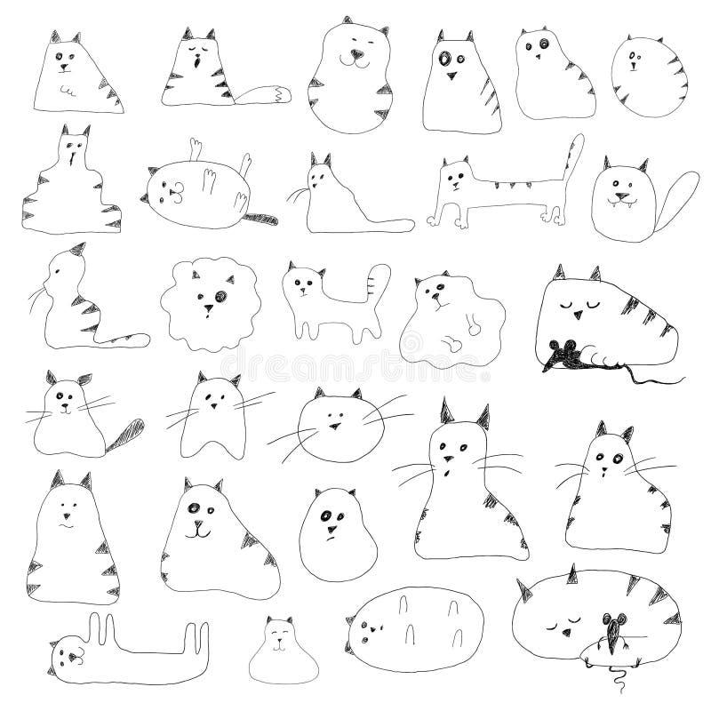 Cat Doodles royalty illustrazione gratis