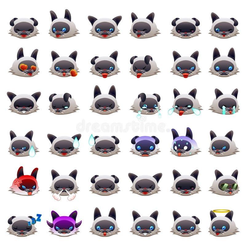 Cat Emoji Emoticon Expression siamoise illustration libre de droits